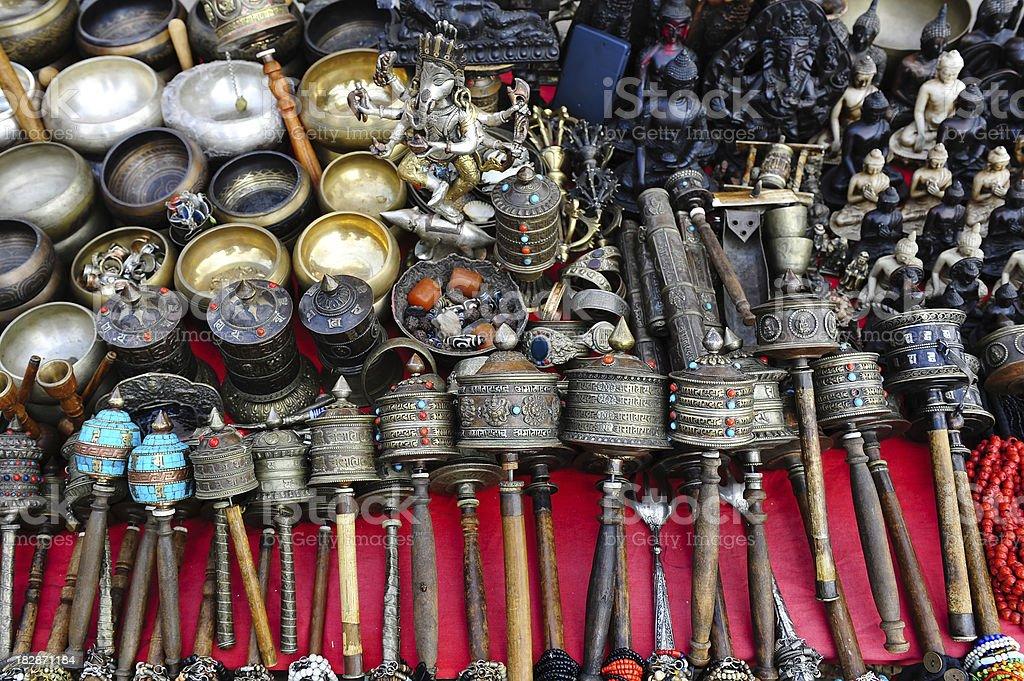 souvenir  in Nepal stock photo