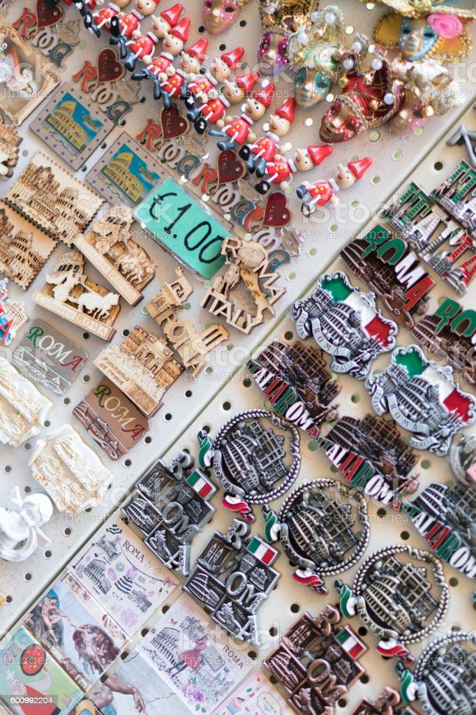 Souvenir: magnets of Rome stock photo