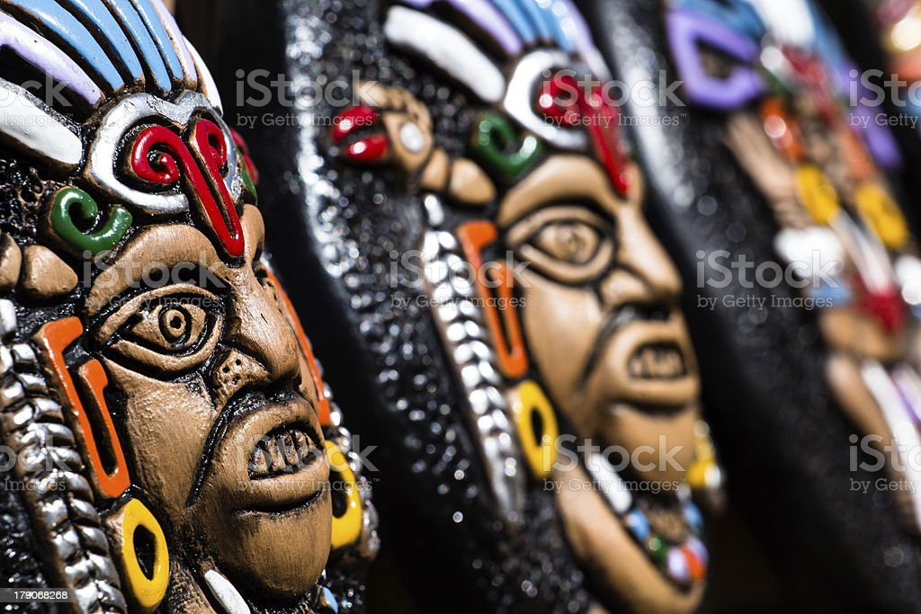 Souvenir masks from argentina, South America. royalty-free stock photo