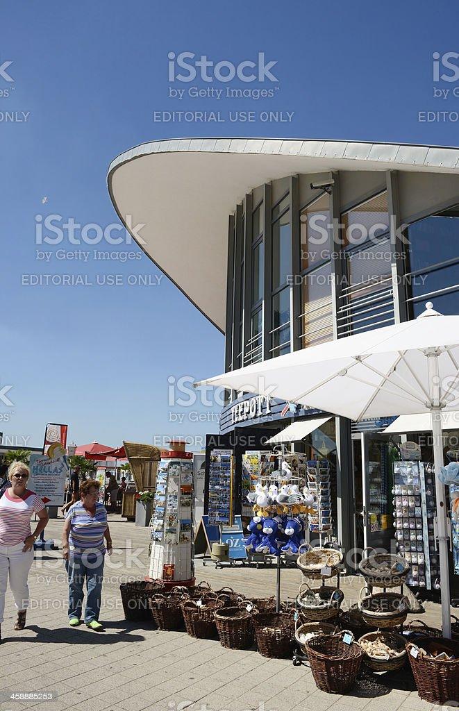 souvenir shop at Teepott of Warnemünde (Germany) royalty-free stock photo
