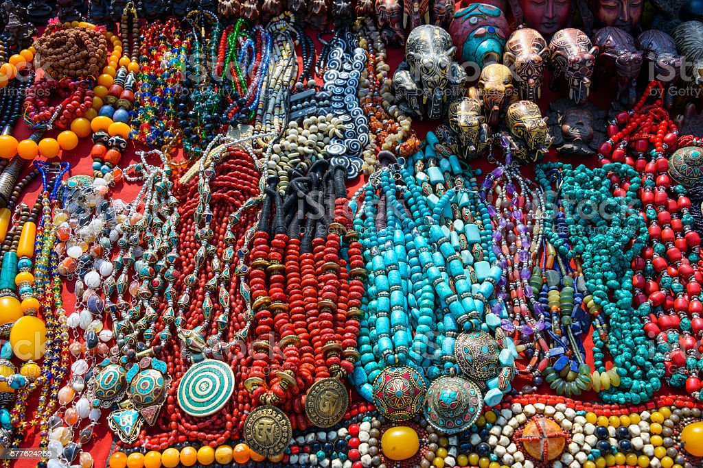 Souvenir shop in Kathmandu stock photo