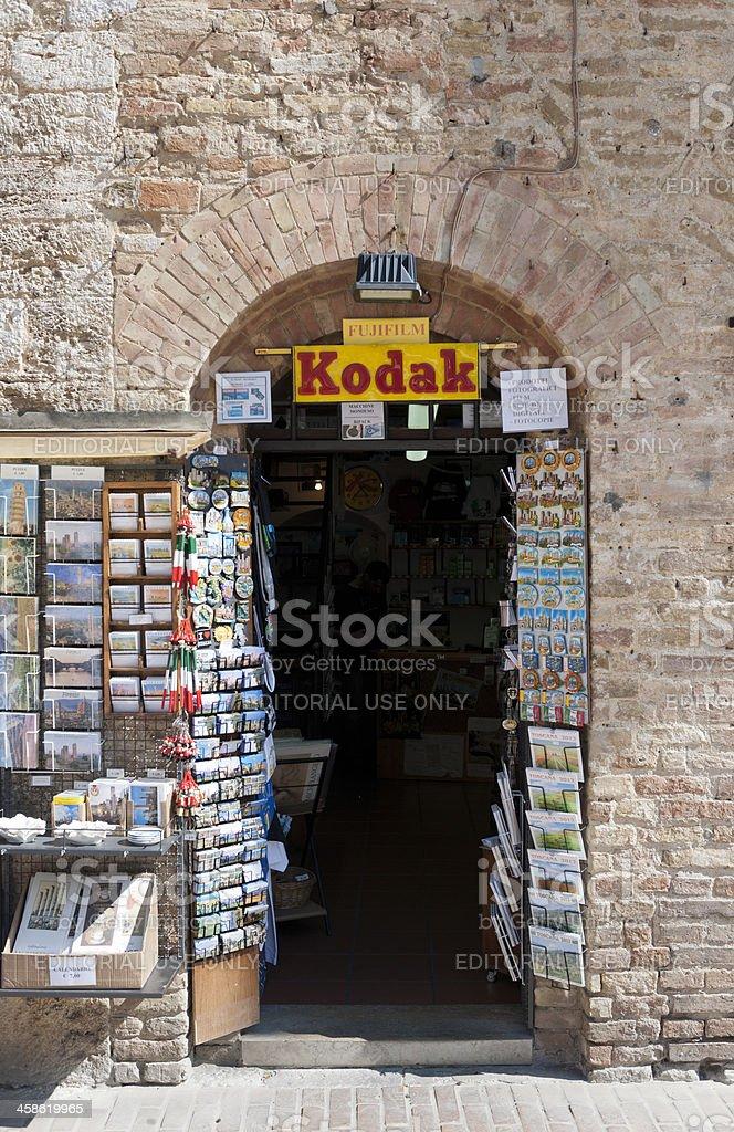 souvenir shop in San Gimignano Italy royalty-free stock photo