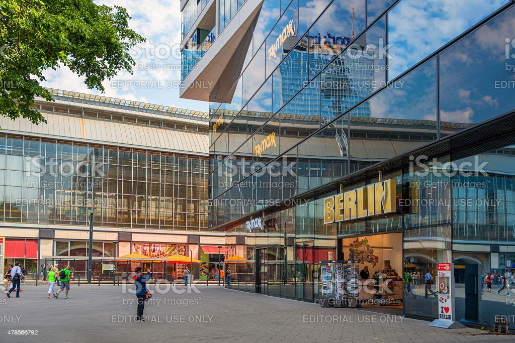 Souvenir shop named Berlin at Alexanderplatz in Berlin stock photo