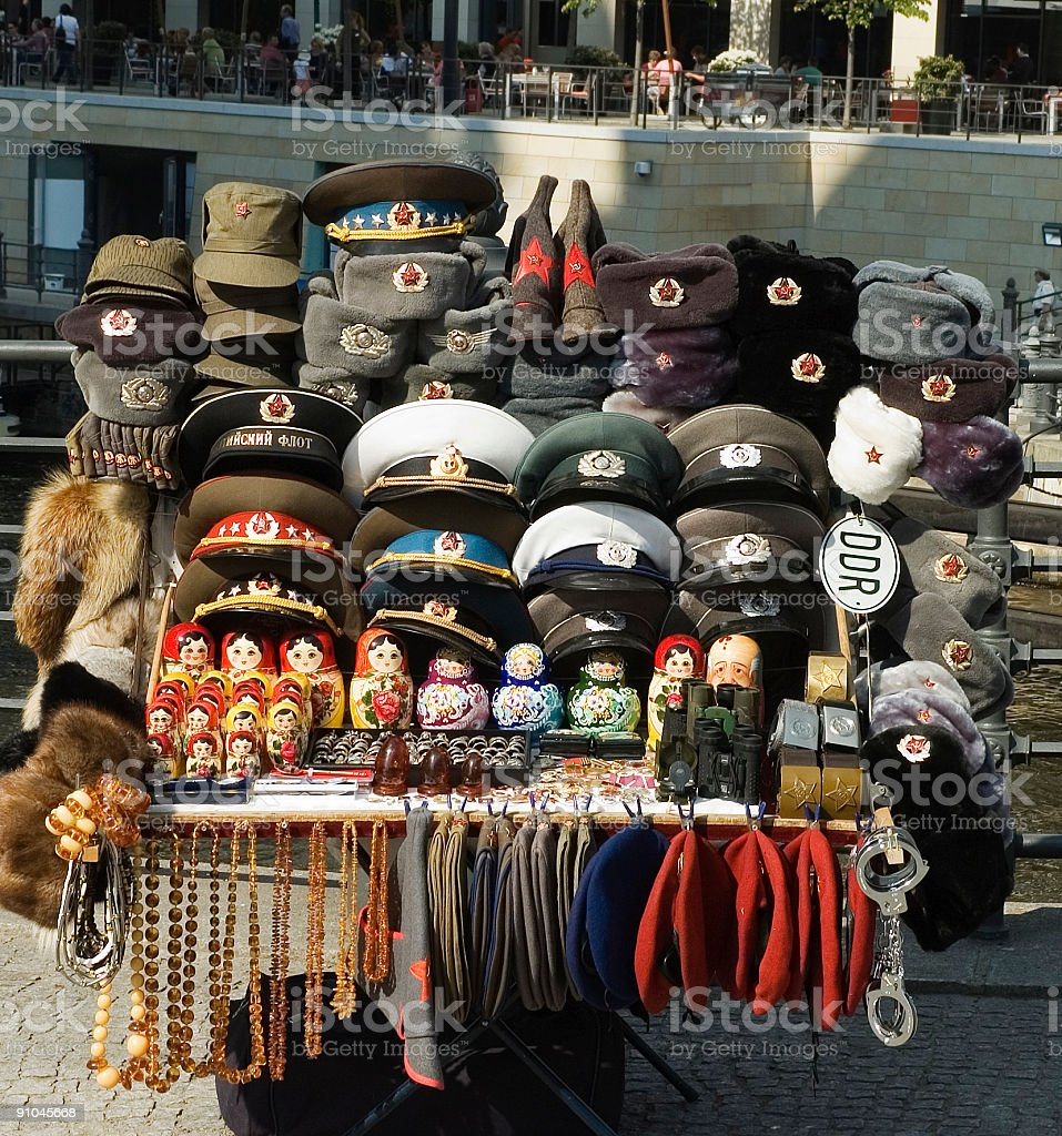 Souvenir stall in Berlin, Germany royalty-free stock photo