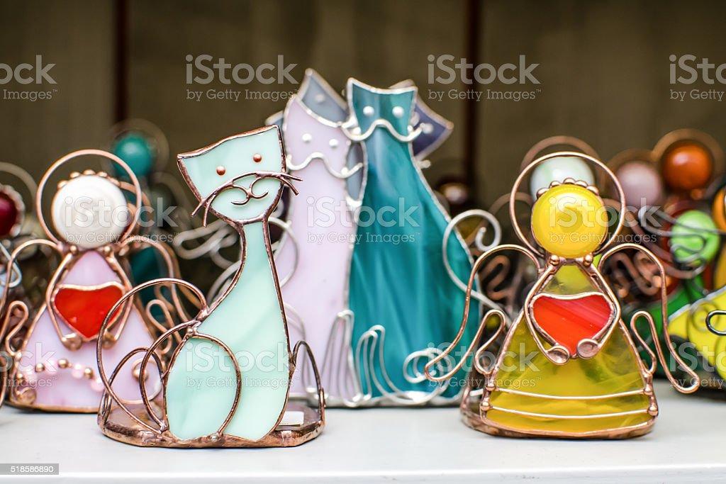 Souvenir statuette cat stock photo