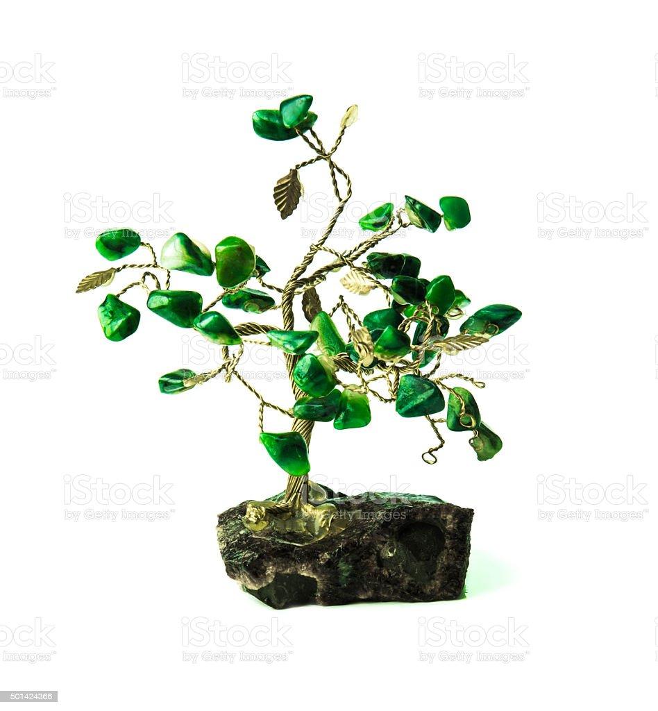 souvenir tree and color stones stock photo