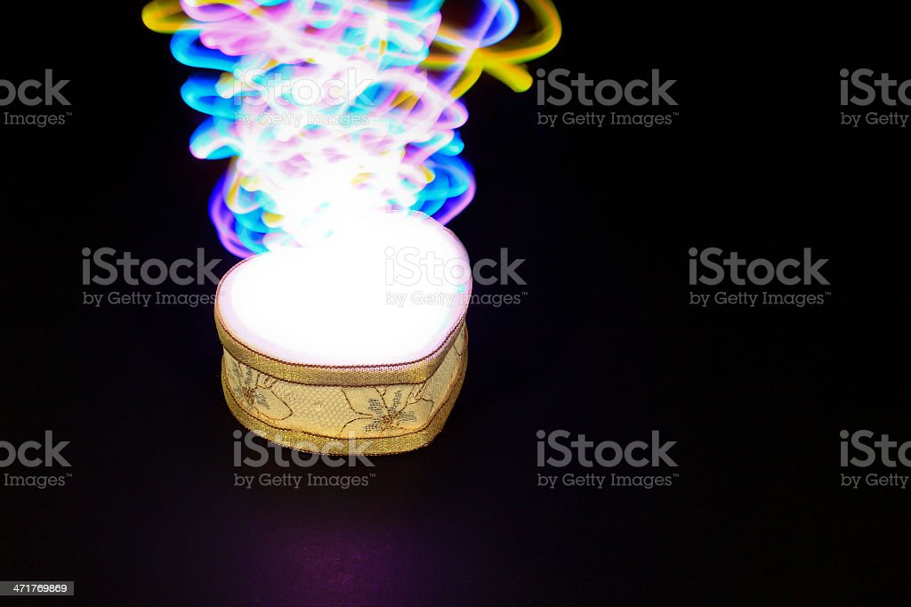 Souvenir with light painting royalty-free stock photo