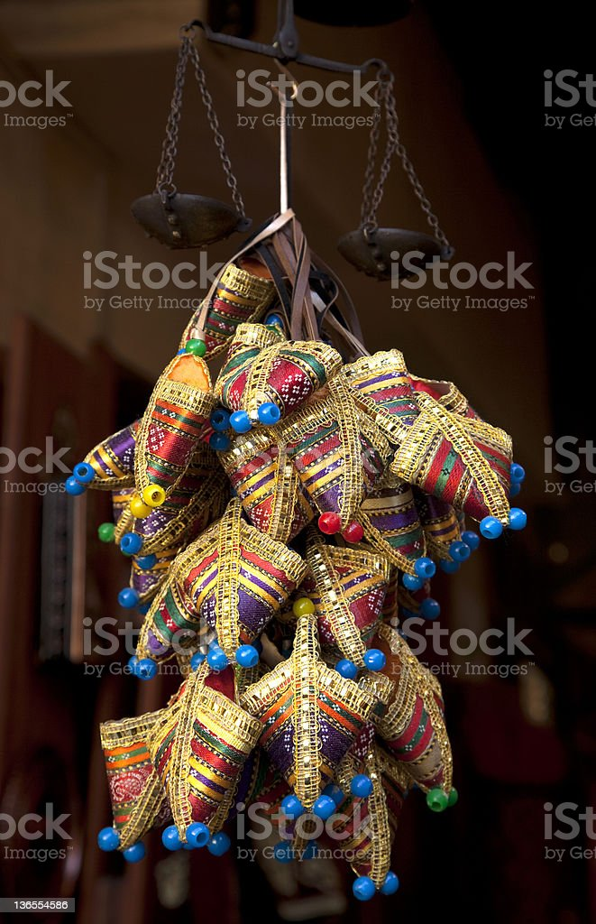 Souvenirs for good luck from Turkey stock photo