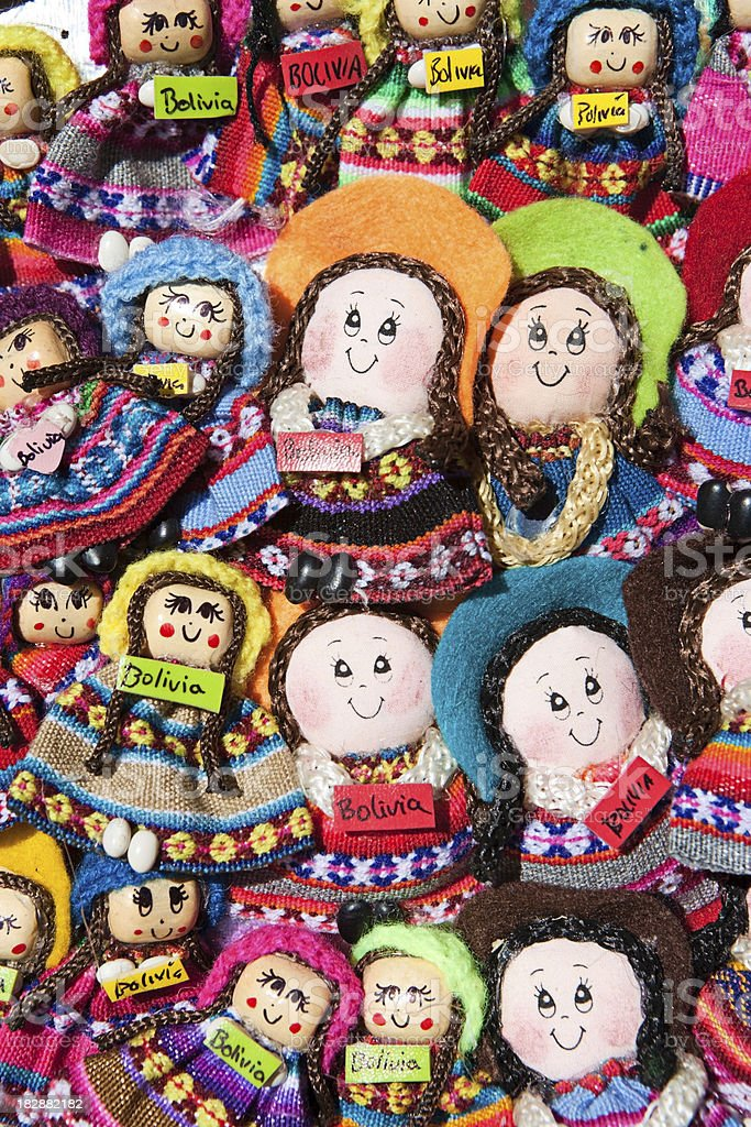 Souvenirs from Bolivia - fridge magnets royalty-free stock photo