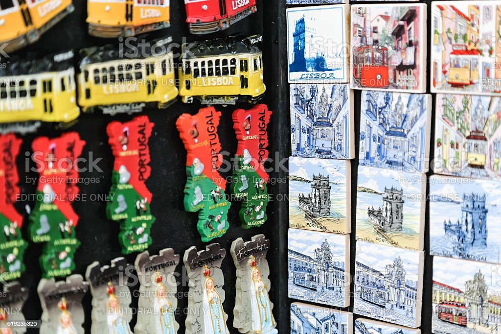 Souvenirs from Lisbon Portugal stock photo
