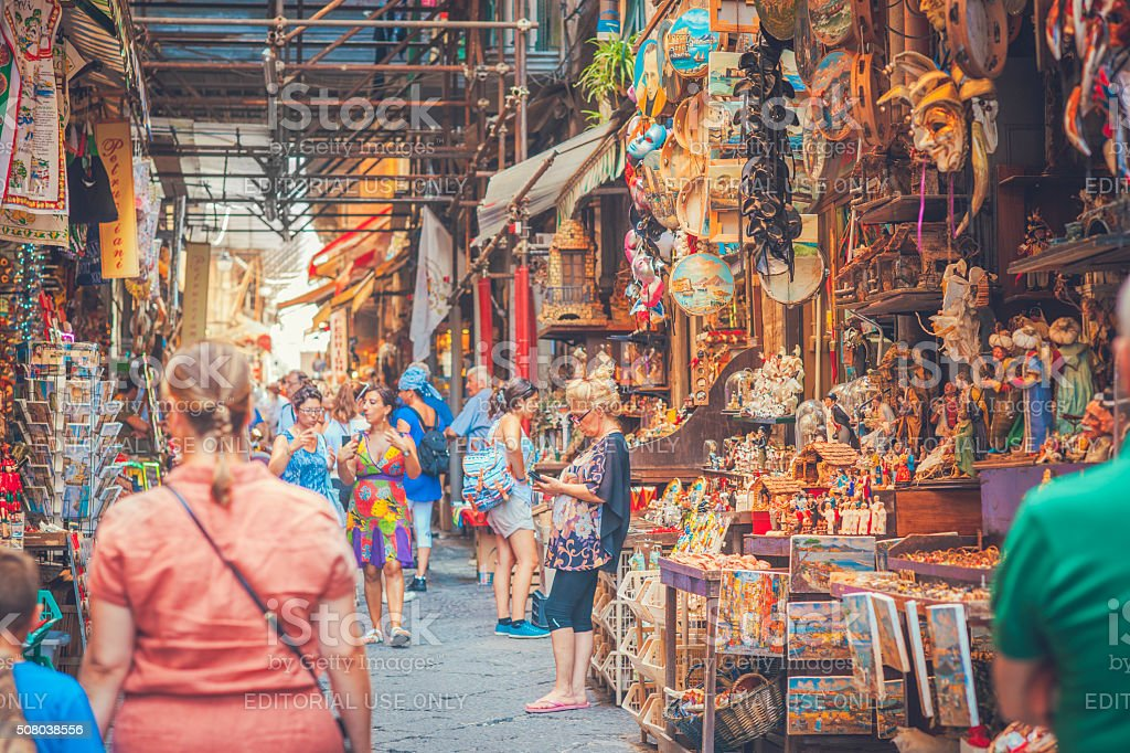 Souvenirs from Naples stock photo