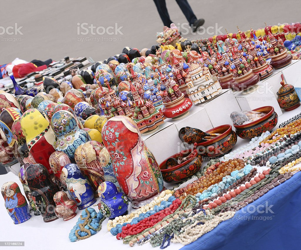 souvenirs from Russia stock photo