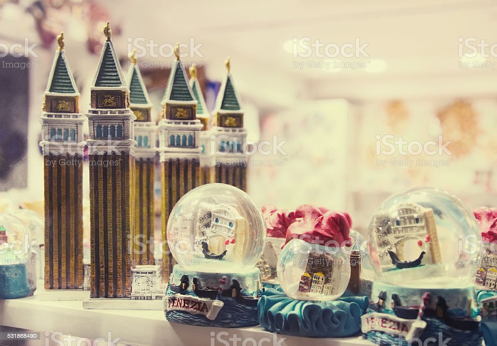 Souvenirs from Venice, Italy stock photo