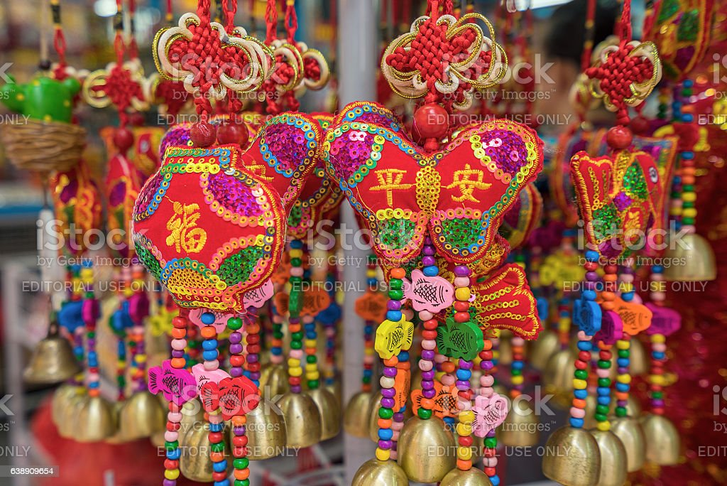 Souvenirs gift and decoration for Chinese New Year stock photo