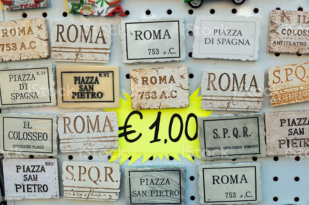 souvenirs of Rome, Italy stock photo