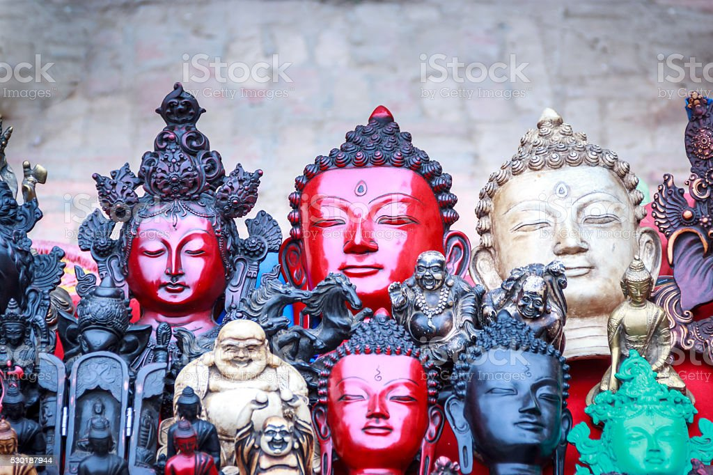 Souvenirs on sell in Bhaktapur,Nepal stock photo