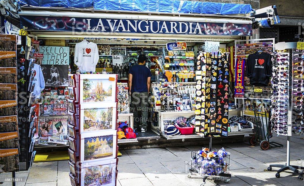 Souvenirs Shop in Barcelona, Spain stock photo
