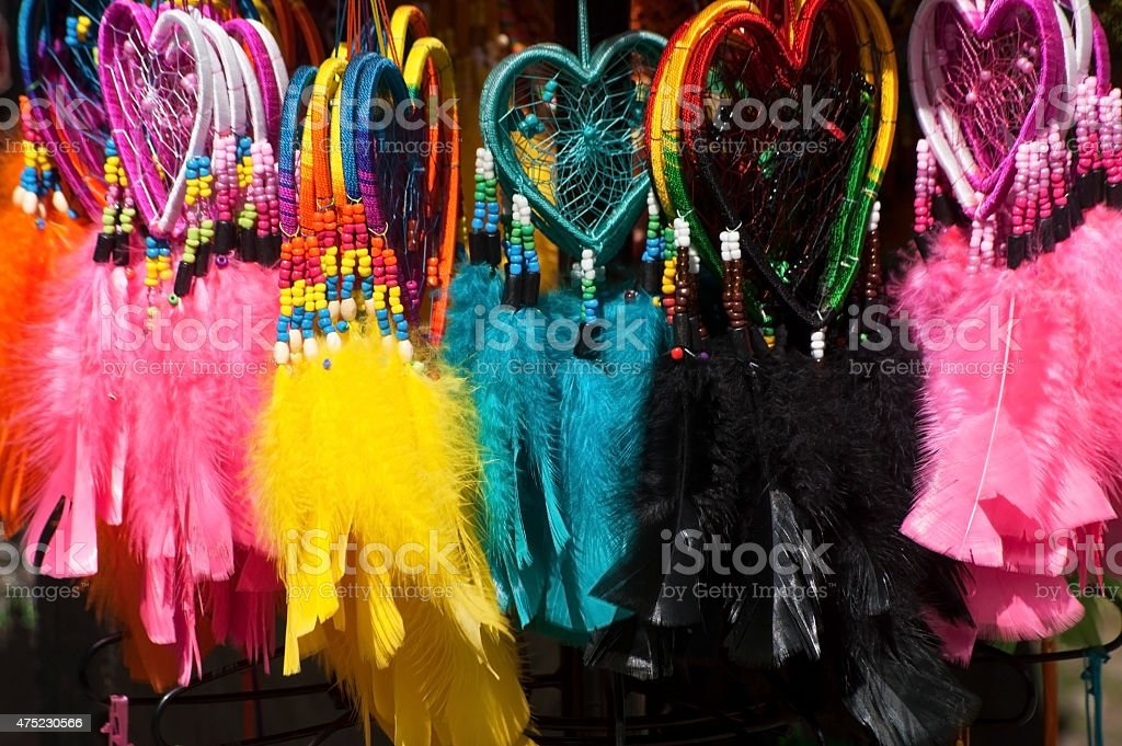 Souvenirs, South American Indians stock photo