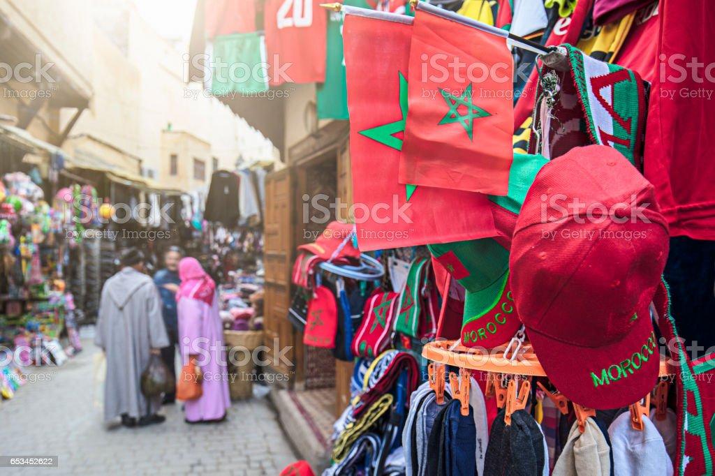 Souviners of Fez stock photo