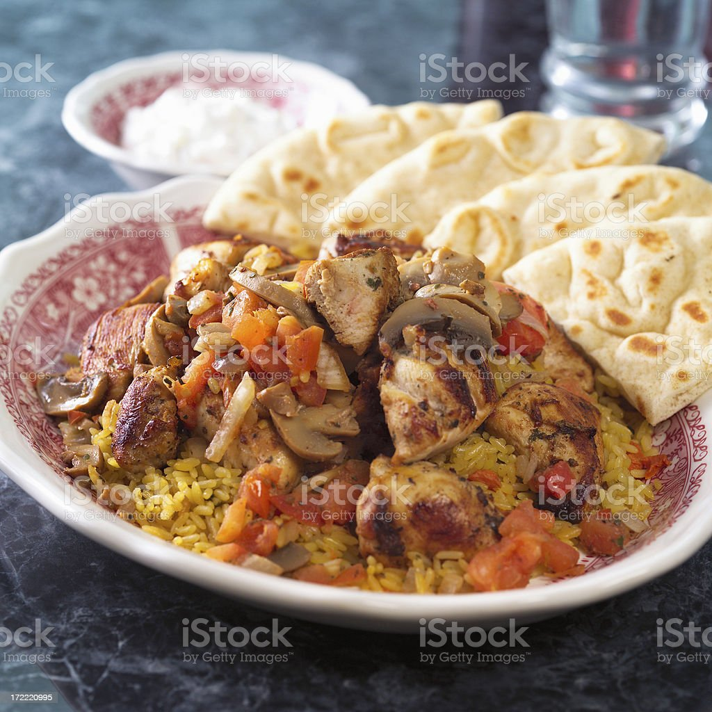 Souvlaki royalty-free stock photo