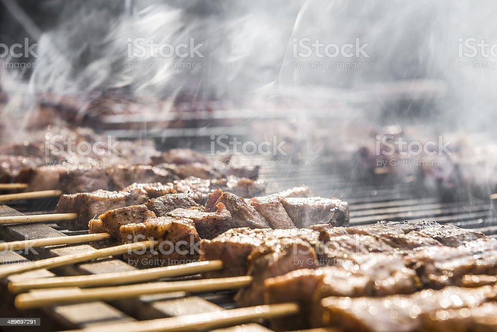 souvlakis stock photo