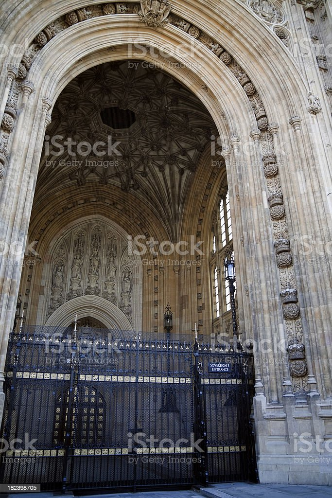 Sovereign's Entrance, Houses of Parliament royalty-free stock photo