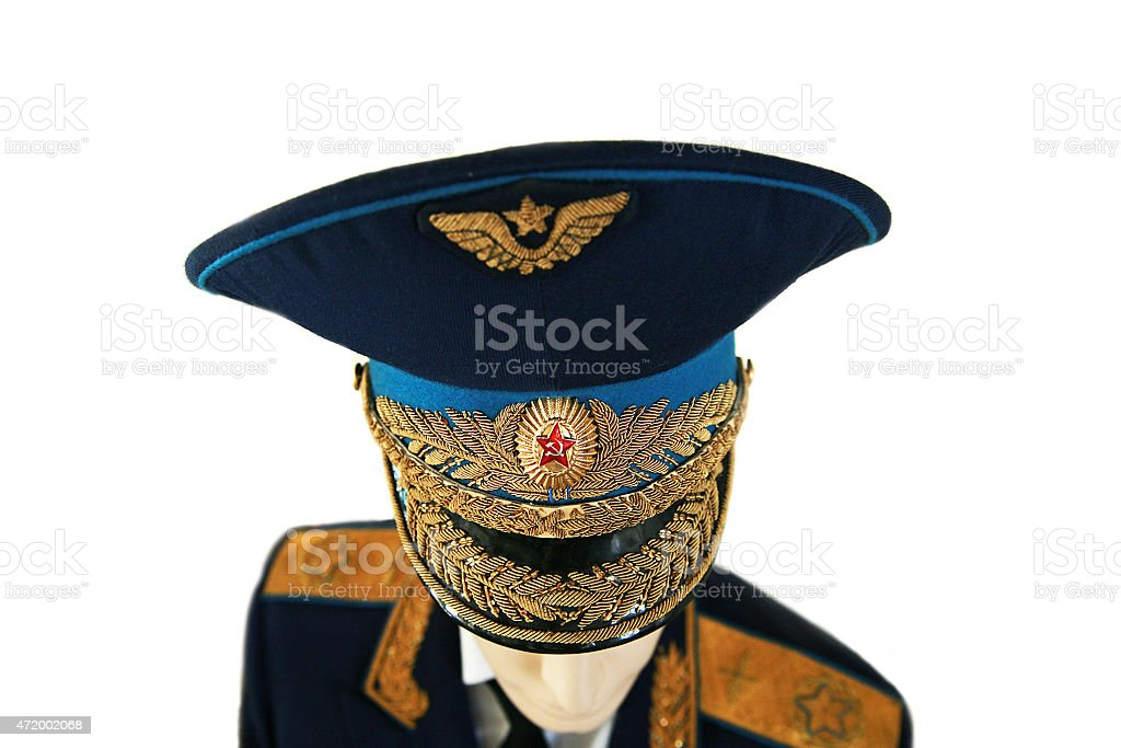 soviet army officer marshal in uniform stock photo