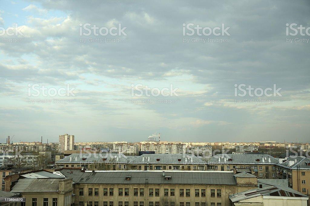 soviet city stock photo