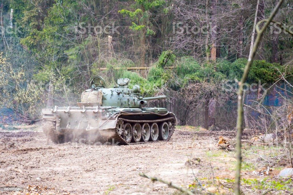 Soviet combat tank T55 stock photo