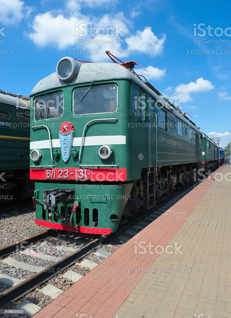 Soviet electric locomotive of direct current VL 23-131 stock photo