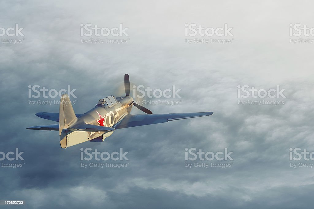 Soviet fighter aircraft of World War 2 stock photo