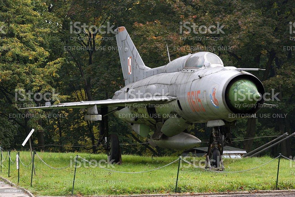 MIG-21 Soviet fighter, Warsaw, Poland stock photo
