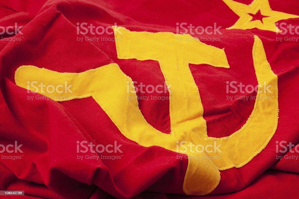 soviet flag royalty-free stock photo