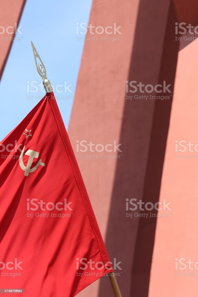Soviet Flag stock photo