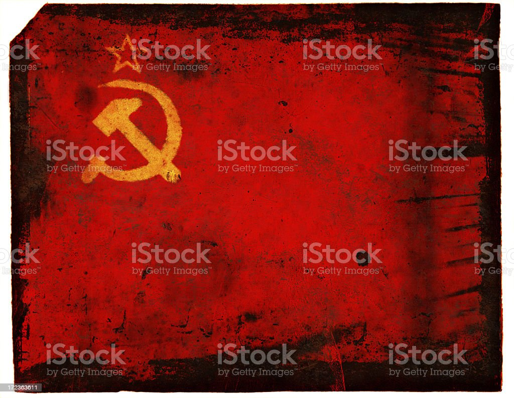 Soviet FLag XXL stock photo