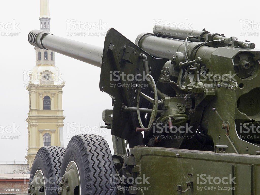 soviet howitzer royalty-free stock photo