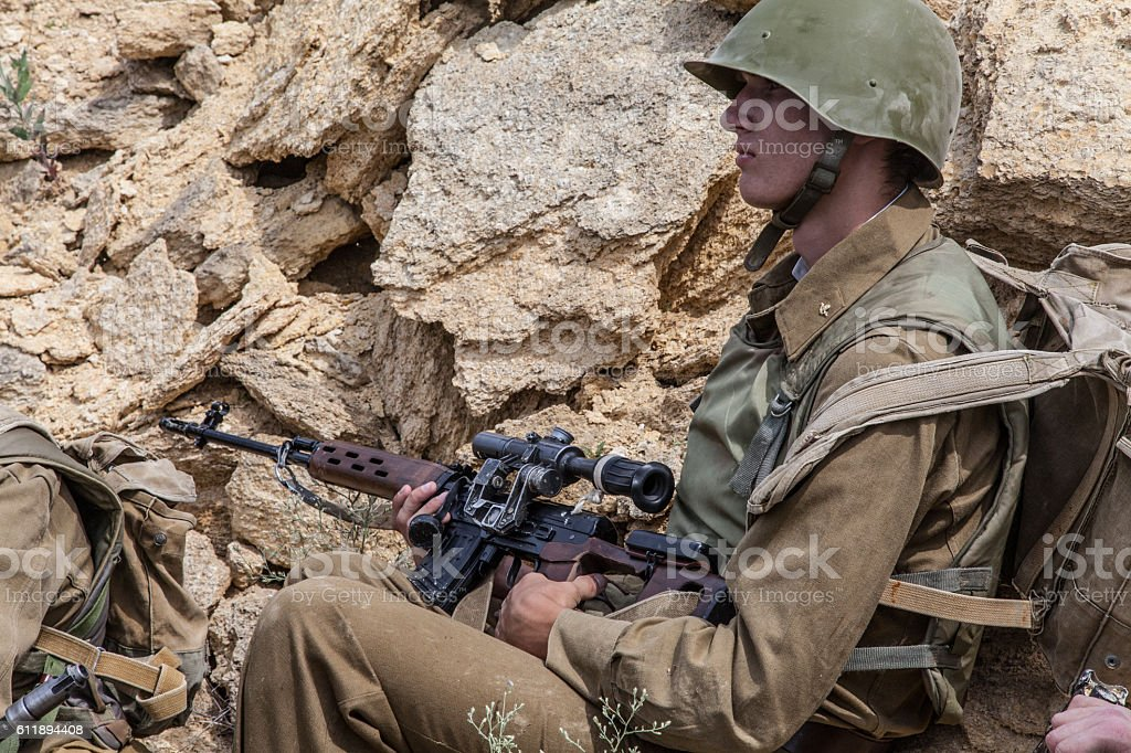 Soviet in Afghanistan stock photo
