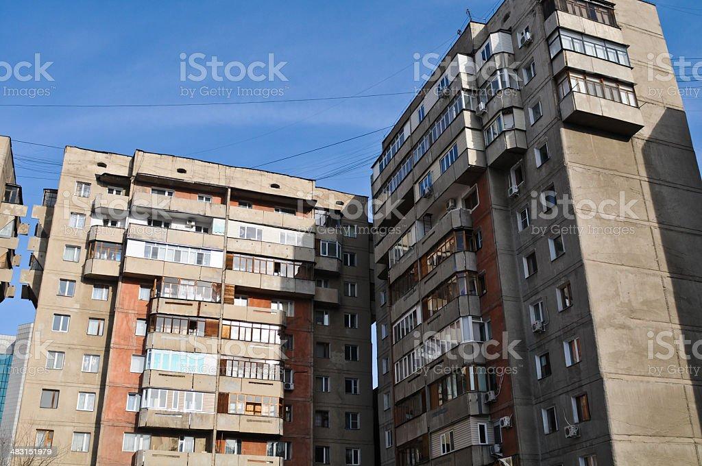 Soviet Living Complex royalty-free stock photo