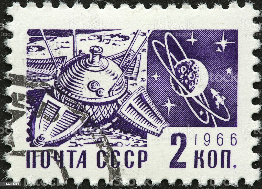 Soviet lunar lander royalty-free stock photo