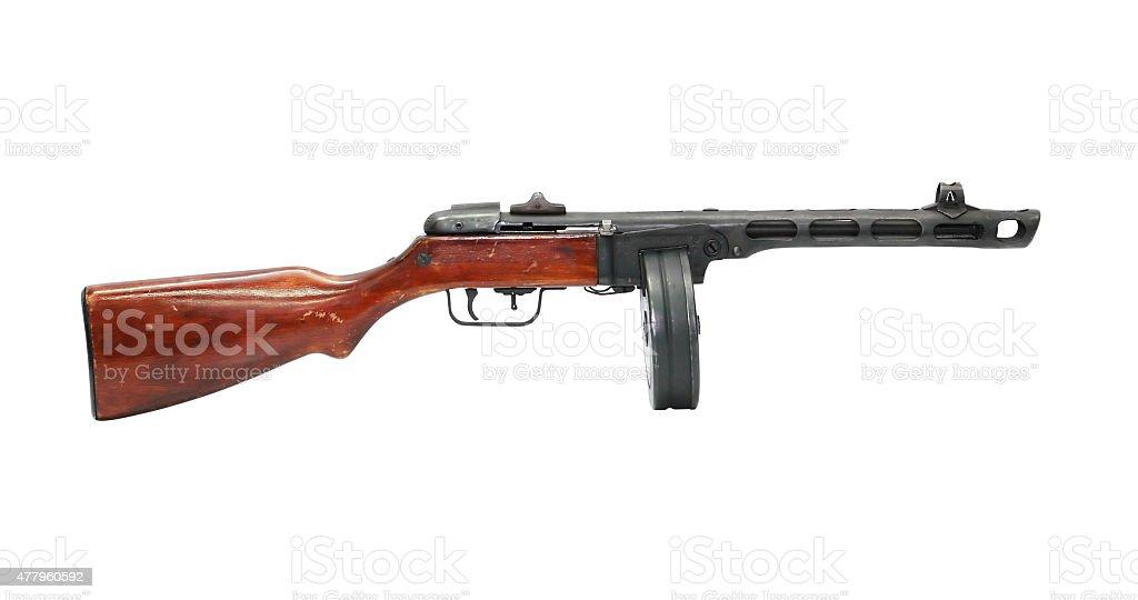 Soviet Machine Gun PPSH-41 stock photo