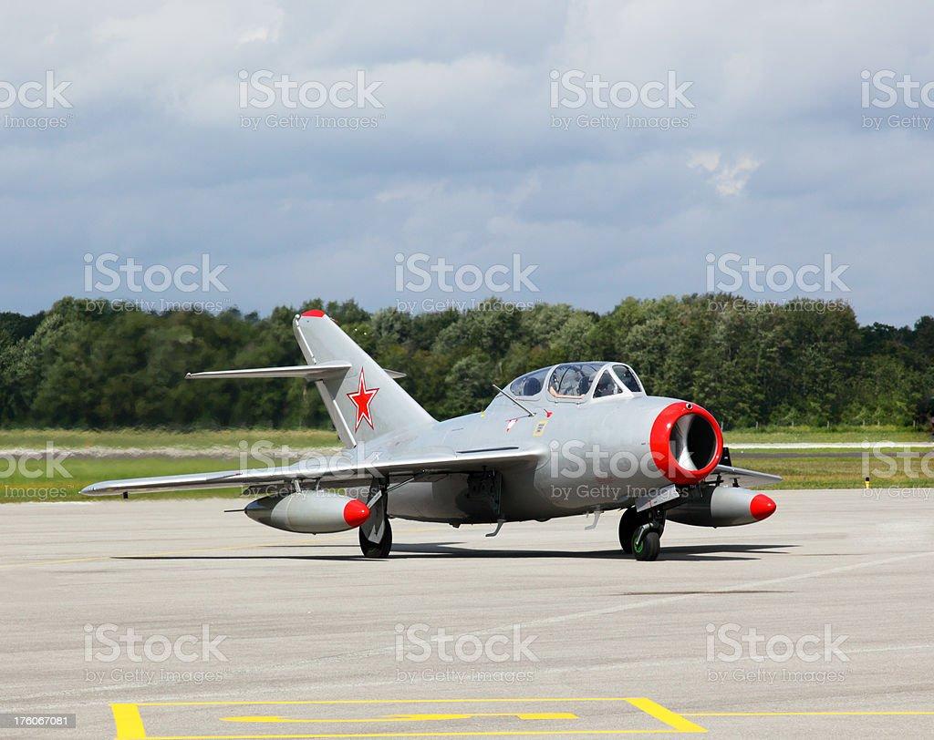 Soviet MiG 15 stock photo