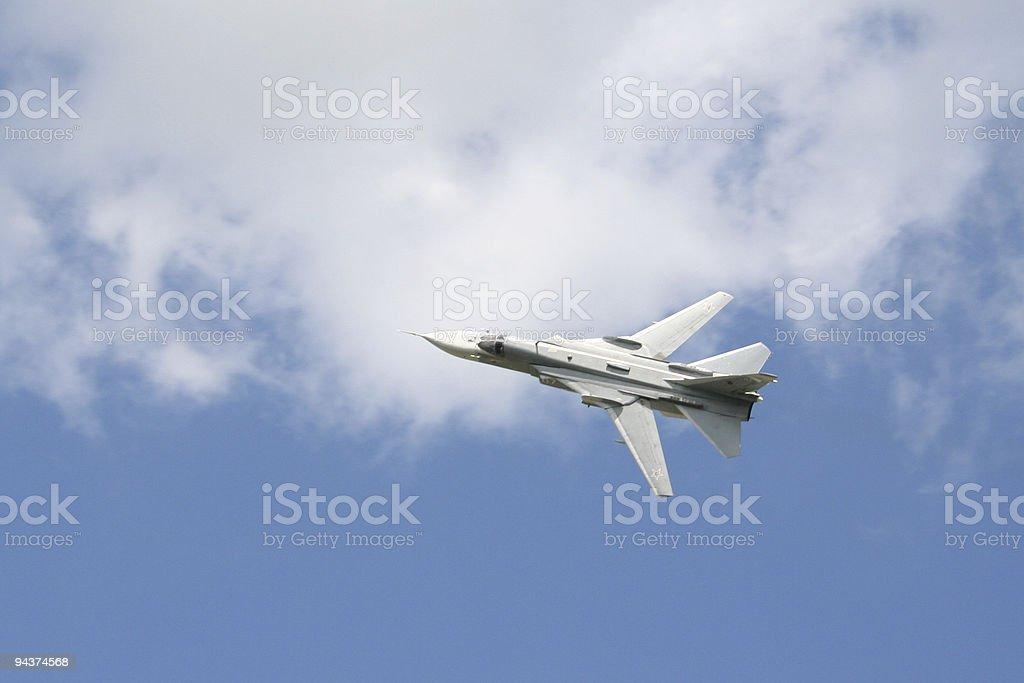 Soviet military aircraft royalty-free stock photo