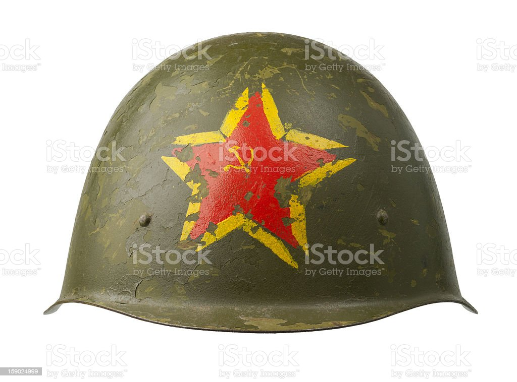Soviet Military Helmet royalty-free stock photo
