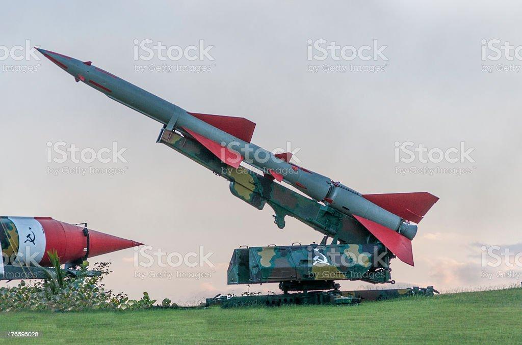 Soviet missiles. stock photo