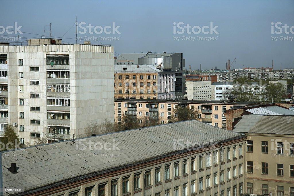 soviet residential district stock photo