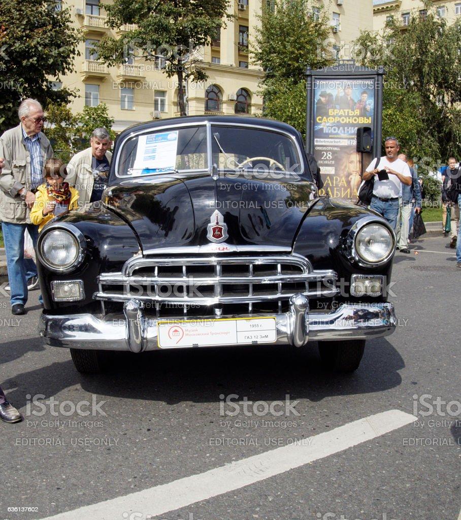 Soviet retro car full-size limousine ZIM stock photo