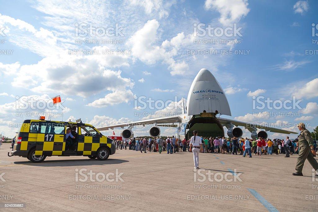 soviet russian Antonow An-124 Ruslan on the ILA stock photo
