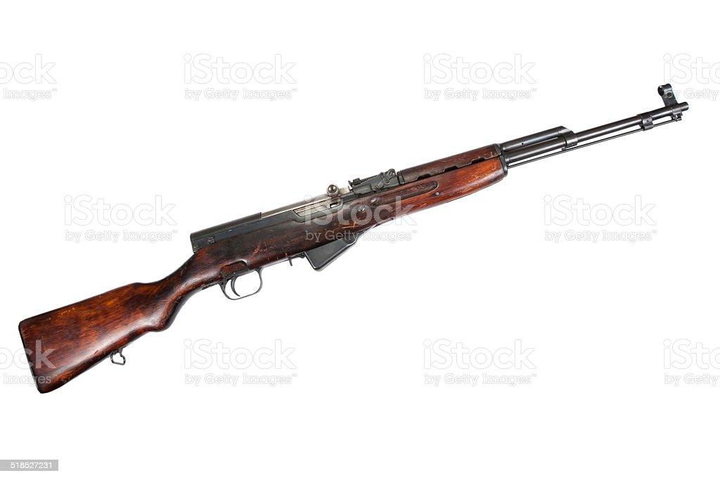 Soviet semi-automatic carbine SKS stock photo