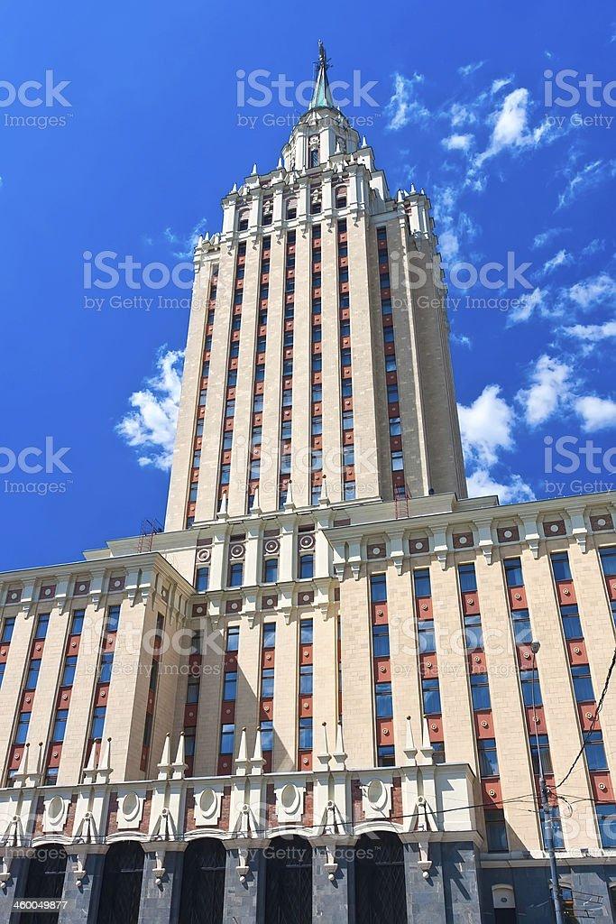 Soviet skyscraper stock photo