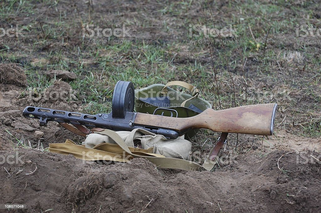 Soviet soldier weapon of WW2 royalty-free stock photo